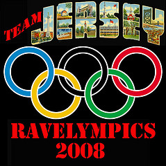 Ravelympics 2008 Team Jersey Button/Badge